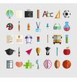 Back to School icon vector image vector image