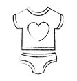 beautiful clothes babys vector image vector image