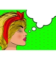 Beautiful pop srt girl dreams portrait vector image vector image