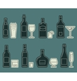 Beverages and drinks thin icons vector image vector image