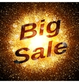 Big sale banner Abstract explosion with gold vector image vector image