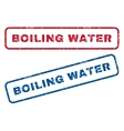Boiling Water Rubber Stamps vector image