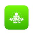 book icon green vector image