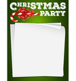 Border design with christmas theme vector image vector image