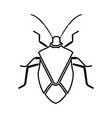 bug black icon vector image