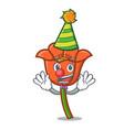clown poppy flower mascot cartoon vector image