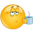 coffee morning emoticon vector image