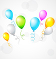 colorful isolated balloon vector image