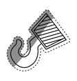 Construction hook crane vector image vector image