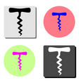 corkscrew flat icon vector image