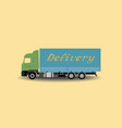 delivery truck colorful vector image vector image