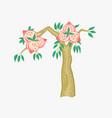 doodle flat fruit tree in vector image