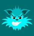 flat icon on theme evil animal coyote vector image vector image