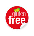 gluten free label tag vector image