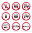 gluten free no warning signs vector image vector image