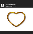 gold frame in the shape of a heart vector image