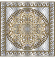 greek 3d panel pattern vector image vector image