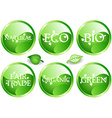 Green web glossy buttons vector image vector image