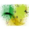 grunge clocks vector image vector image