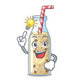 have an idea sweet banana smoothie isolated on vector image