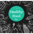 Healthy food chalkboard background vector image vector image