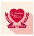 Heraldic valentines day design vector image vector image