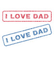 i love dad textile stamps vector image vector image