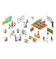 isometric school 3d college teachers board and vector image vector image
