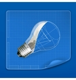 Lamp drawing blueprint vector image vector image