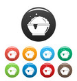 laundry bubble icons set color vector image vector image
