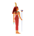 maat egyptian goddess deity with ostrich feather vector image