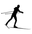 male skier cross-country skiing vector image vector image