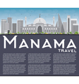 Manama Skyline with Gray Buildings and Copy Space vector image vector image
