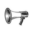 megaphone speaker monochrome style vector image vector image