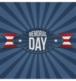 Memorial Day realistic Badge with Text vector image vector image