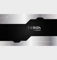 metal frame border dimension carbon texture vector image