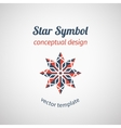 Ornamental Star Logo vector image