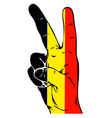 Peace Sign of the Belgian flag vector image vector image