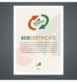 Recycled product or eco certificate vector image