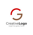 red brown abstract circular initial letter g vector image vector image