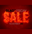 sale text with red fire flames background vector image
