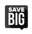 Save Big speech bubble vector image vector image