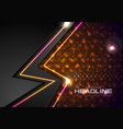 shiny glowing abstract retro lights background vector image vector image