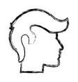 sketch human profile man male icon vector image vector image