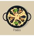 spanish paella isolated icon design vector image