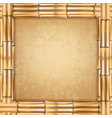 square brown dry bamboo sticks frame with old vector image vector image