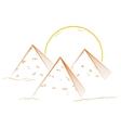 Three pyramids vector image vector image