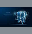 tooth abstract low poly shine bright tooth vector image vector image