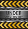 under construction background metal texture vector image