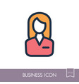 user icon of woman outline icon business sign vector image vector image